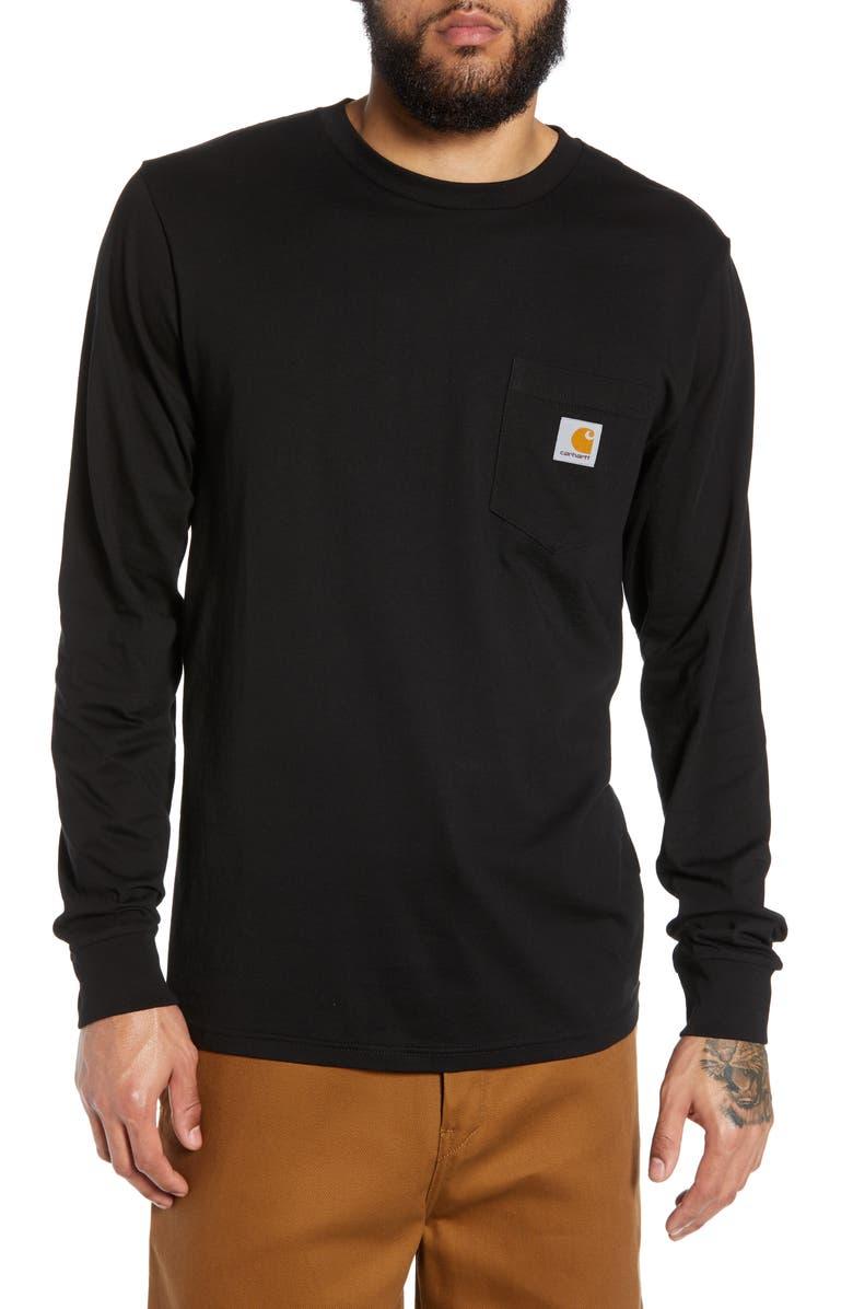 CARHARTT WORK IN PROGRESS Pocket T-Shirt, Main, color, BLACK
