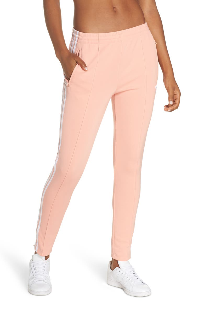 ADIDAS ORIGINALS adidas SST Track Pants, Main, color, DUST PINK
