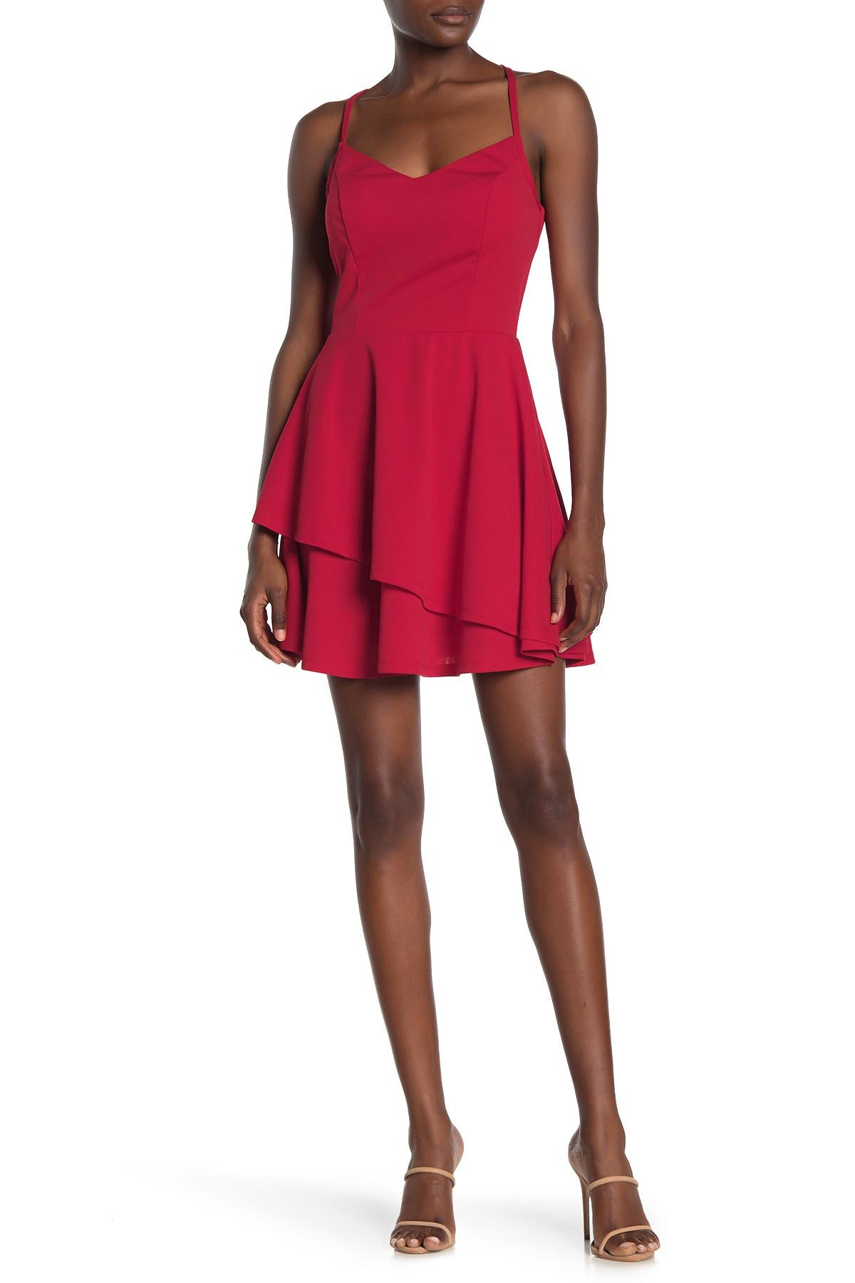 Image of ROW A Lace Back Mini Dress