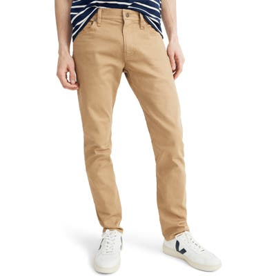 Madewell Garment Dyed Slim Fit Jeans, Brown