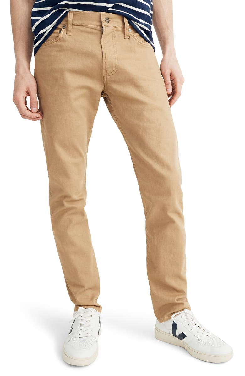 MADEWELL Garment Dyed Slim Fit Jeans, Main, color, HONEY BROWN