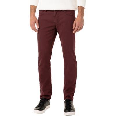 Liverpool Kingston Slim Straight Leg Jeans, Burgundy