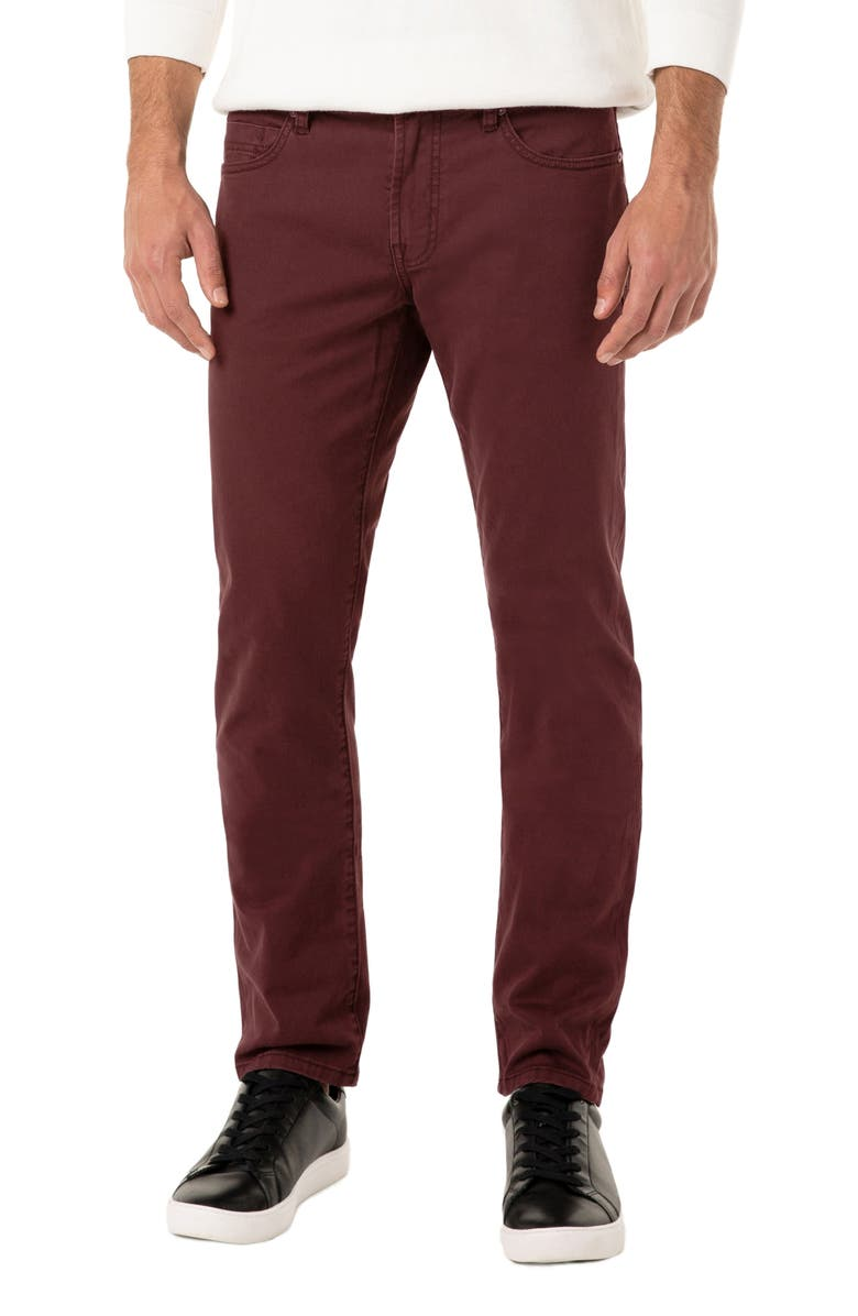 LIVERPOOL Kingston Slim Straight Leg Jeans, Main, color, BLACK CHERRY