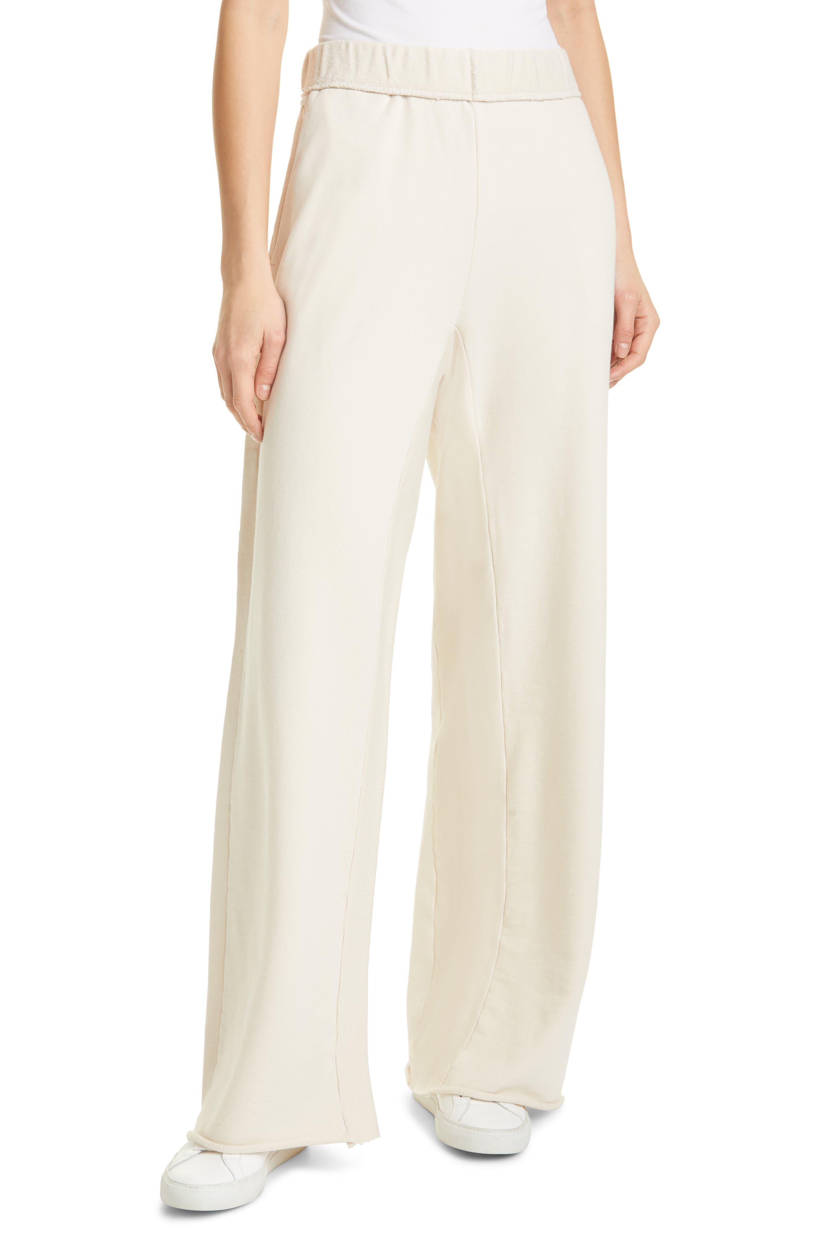 Women's Frame Wide Leg Organic Cotton Sweatpants