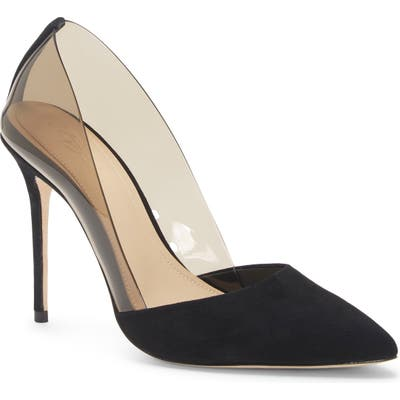 Imagine By Vince Camuto Ossie Clear Pump, Black