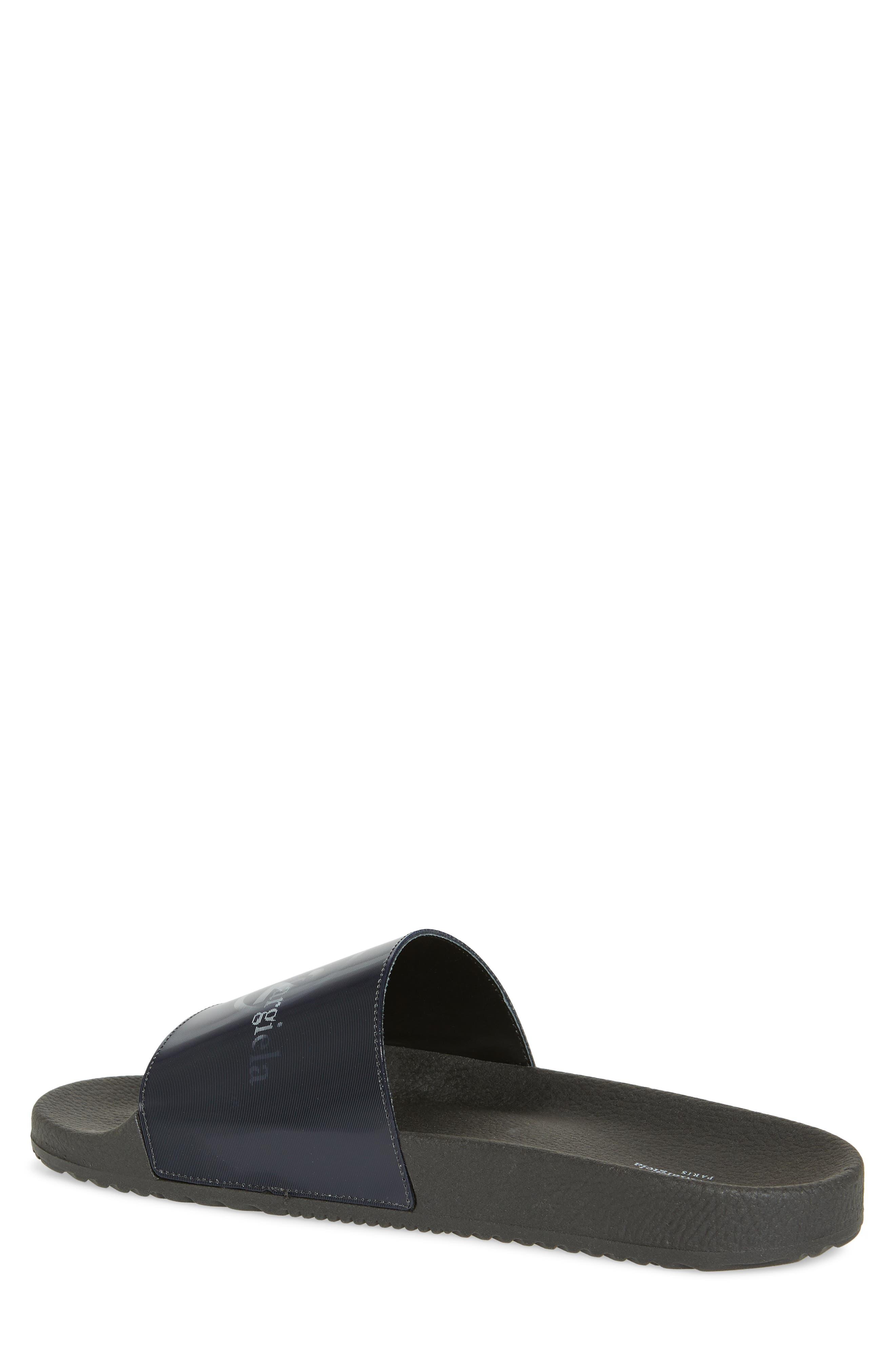 ,                             Pool Slide Sandal,                             Alternate thumbnail 2, color,                             BLACK/ OFF WHITE