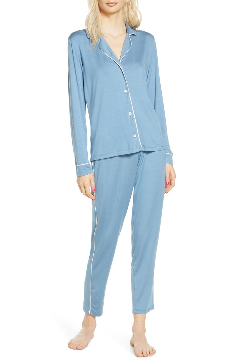 EBERJEY Gisele Slim Pajamas, Main, color, BLUE SHADOW/ BLUSH