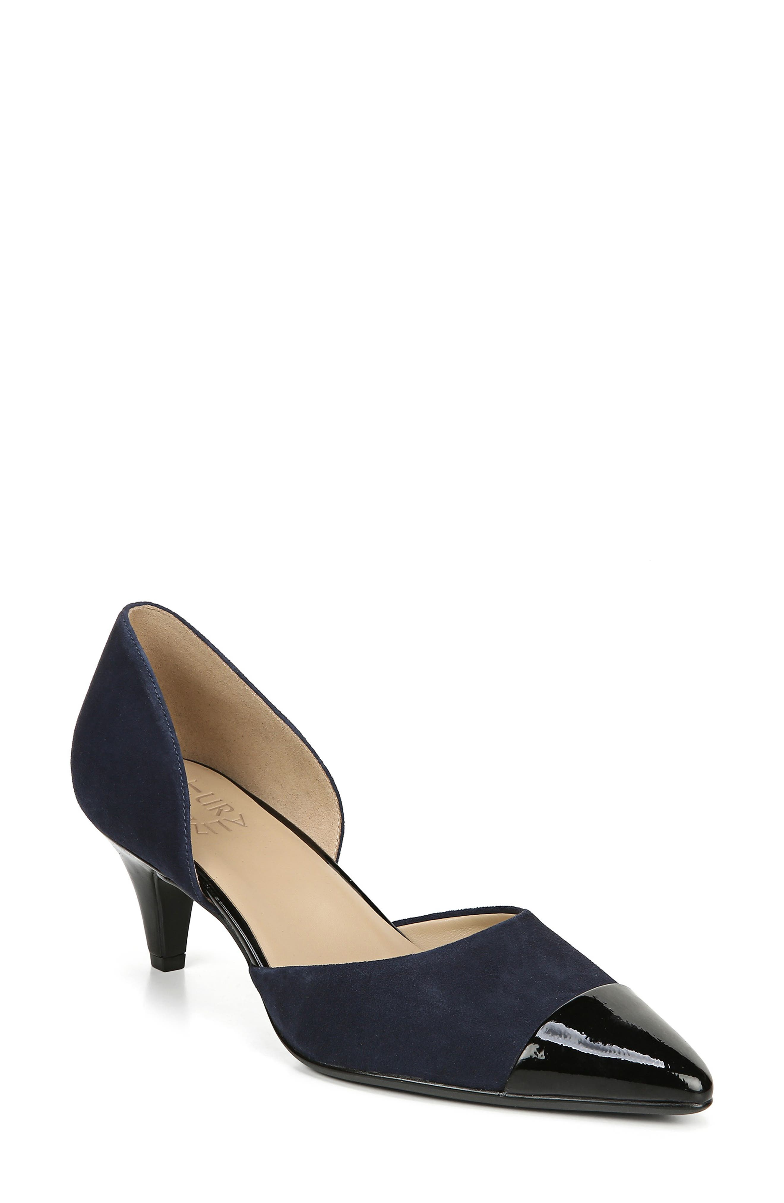 Naturalizer Barb Leather Pump, Blue