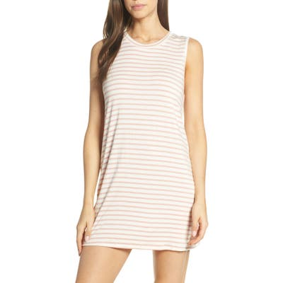 Maison Du Soir Harper Stripe Sleep Shirt, Pink