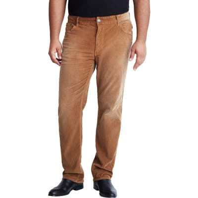 Mvp Collections Straight Leg Corduroy Jeans, Brown