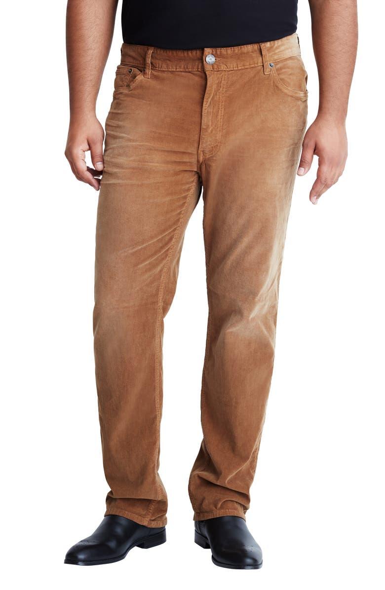 MVP COLLECTIONS Straight Leg Corduroy Jeans, Main, color, CAMEL VINTAGE WASH