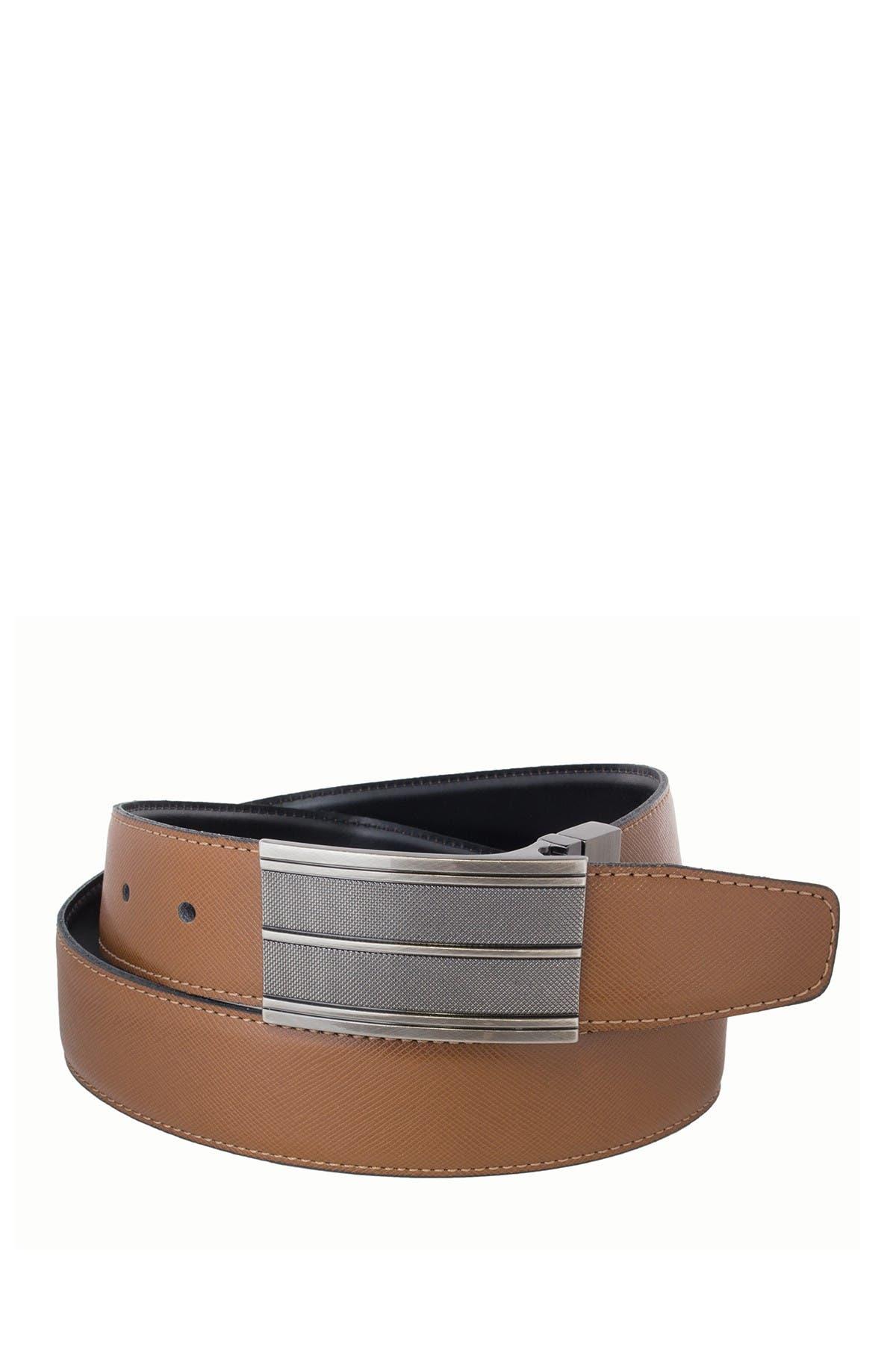 Image of BOSCA Reversible 35mm Saffiano Leather Belt