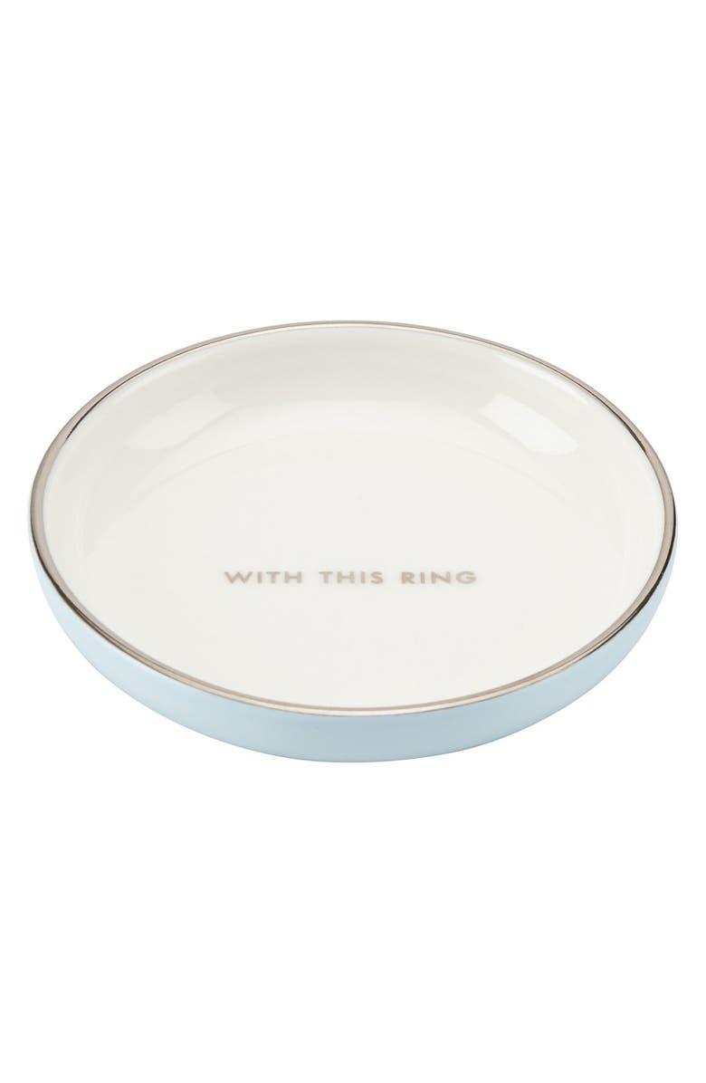 KATE SPADE NEW YORK kate spade 'take the cake' ring dish, Main, color, WHITE