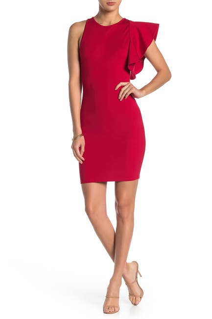 Image of MAX & ASH Flutter Sleeve Bodycon Dress