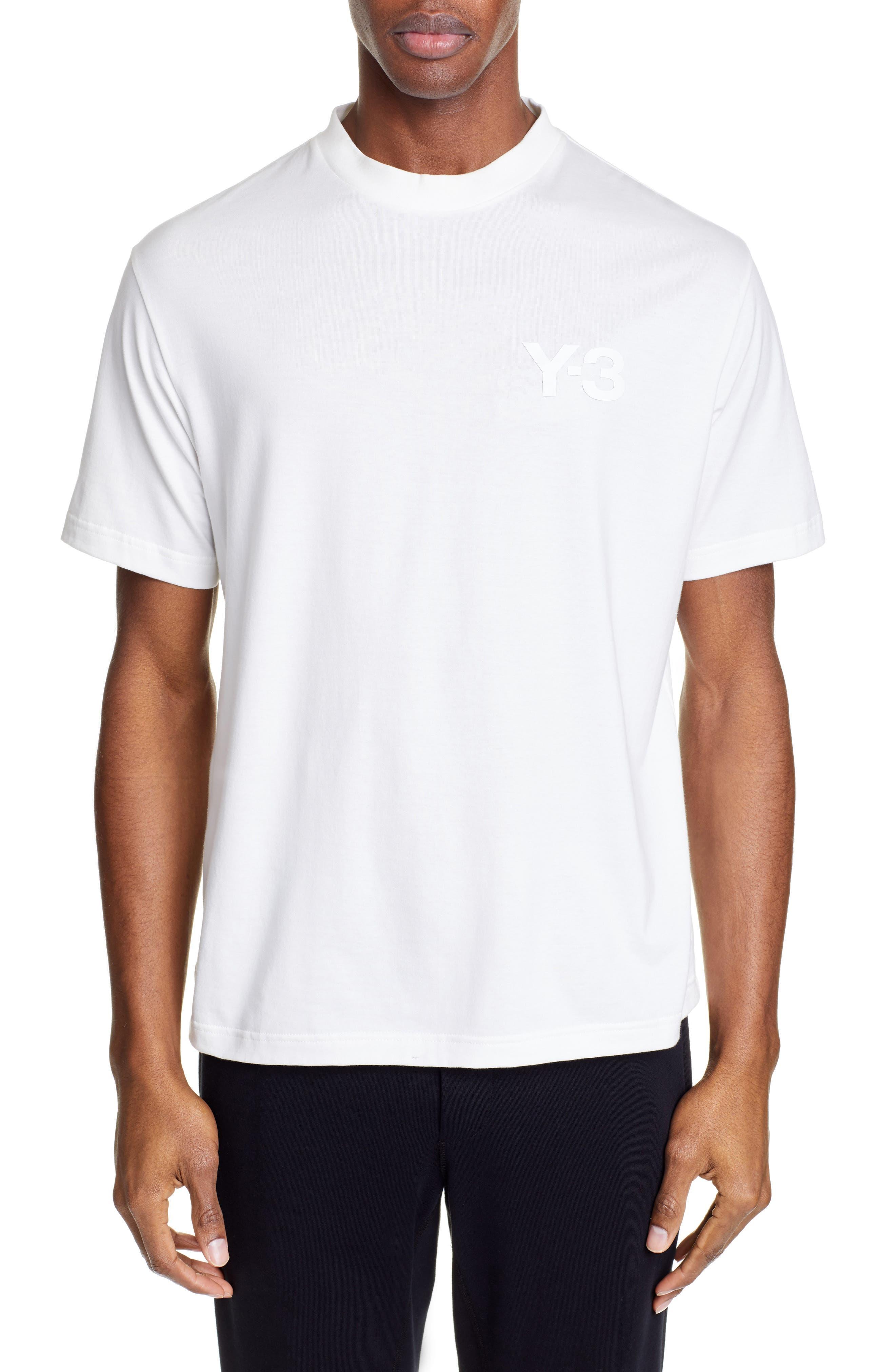 ,                             Logo T-Shirt,                             Main thumbnail 1, color,                             CORE WHITE