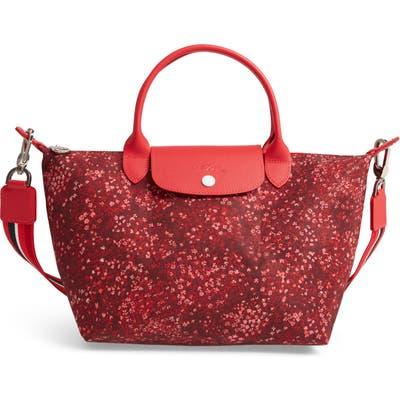 Longchamp Small Le Pliage Floral Print Shoulder Bag - Red