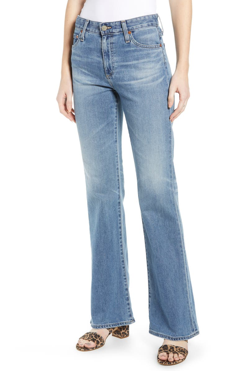 AG Quinne High Waist Flare Jeans, Main, color, 18 YEAR AMBROSIAL