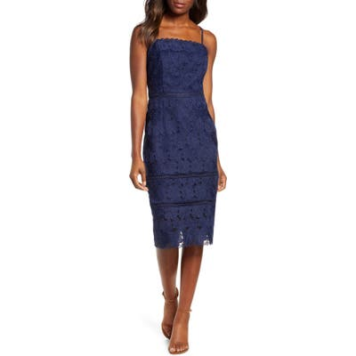 Adeylyn Rae Kylene Lace Cocktail Dress, Blue