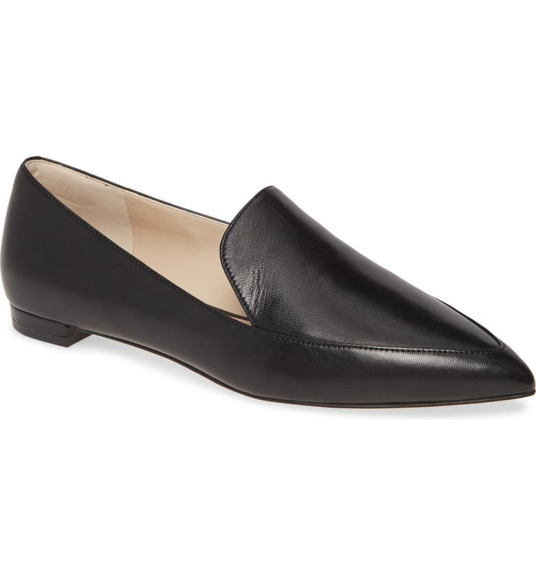 COLE HAAN Brie Skimmer Flat, Main, color, BLACK LEATHER