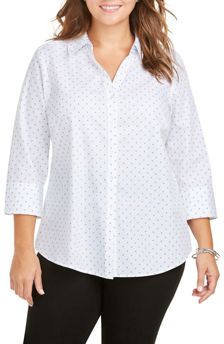 FOXCROFT Mary Star Dot Shirt, Main, color, PERFECT PERI