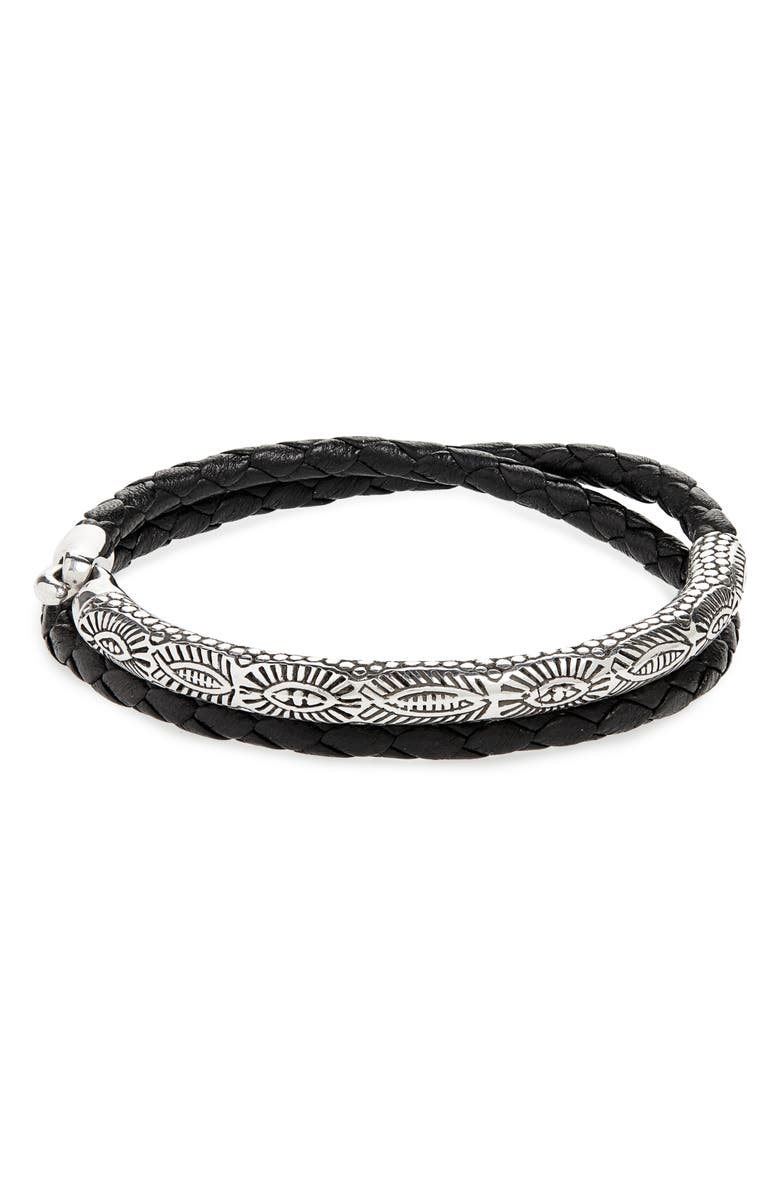CAPUTO & CO. Third Eye Silver Half Cuff Bracelet, Main, color, 041