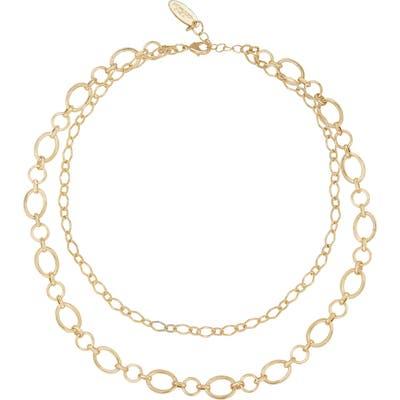 Ettika Layered Oval Chain Necklace