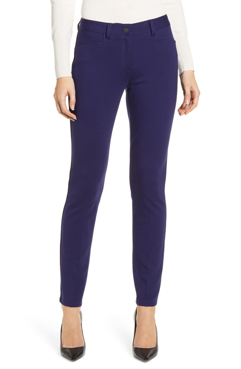 ANNE KLEIN Fly Front Leggings, Main, color, DISTANT MOUNTAIN