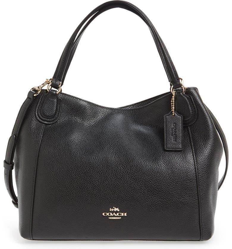 'Edie 28' Pebbled Leather Shoulder Bag