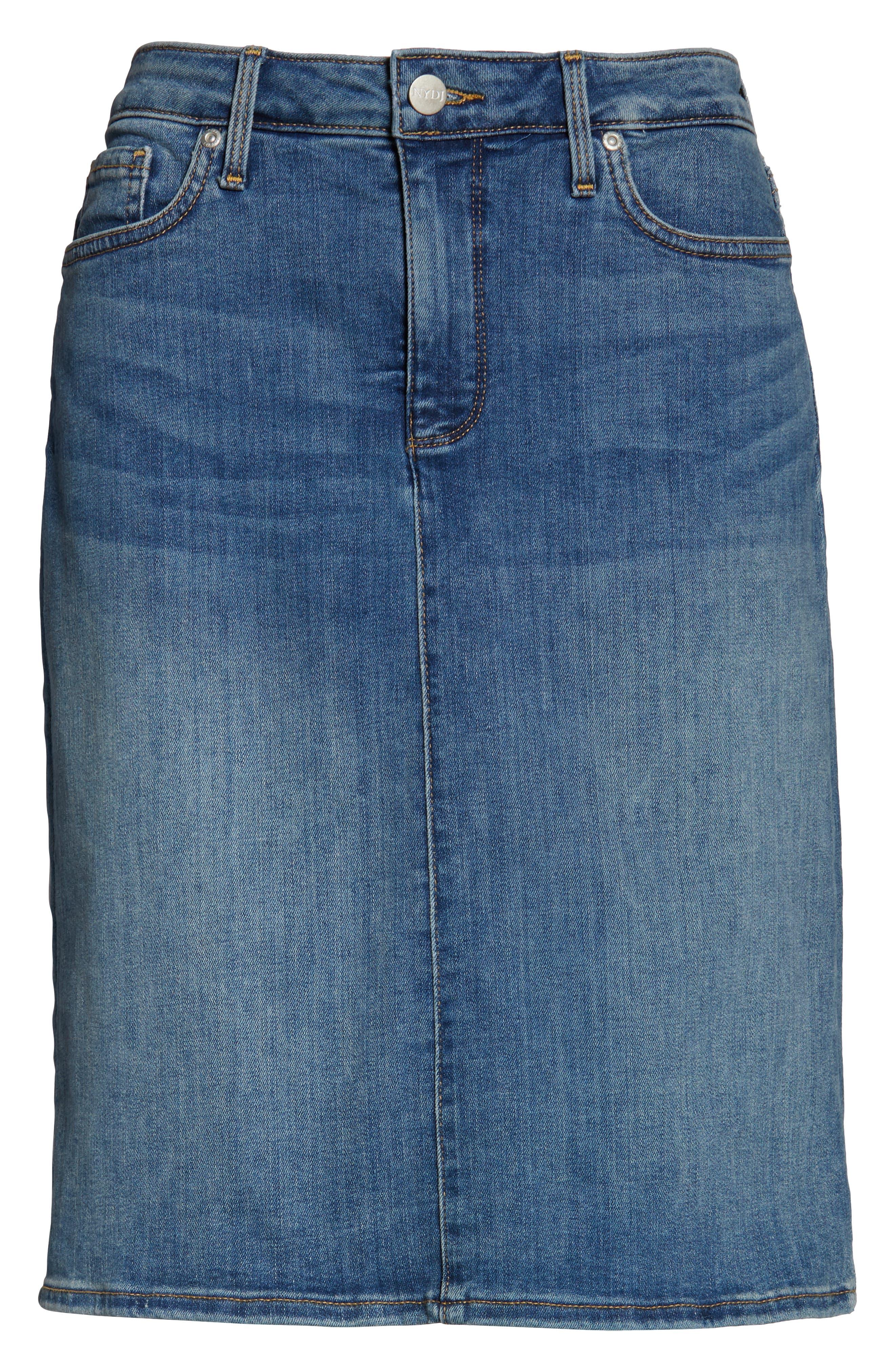 ,                             Denim Skirt,                             Alternate thumbnail 5, color,                             RHODES