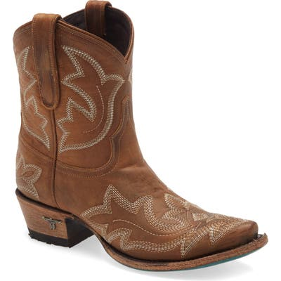 Lane Boots Saratoga Western Boot- Brown