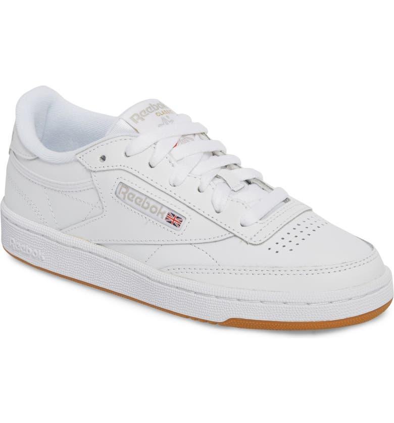 dbb65833f4a0 Club C 85 Sneaker, Main, color, WHITE/ LIGHT GREY/ GUM
