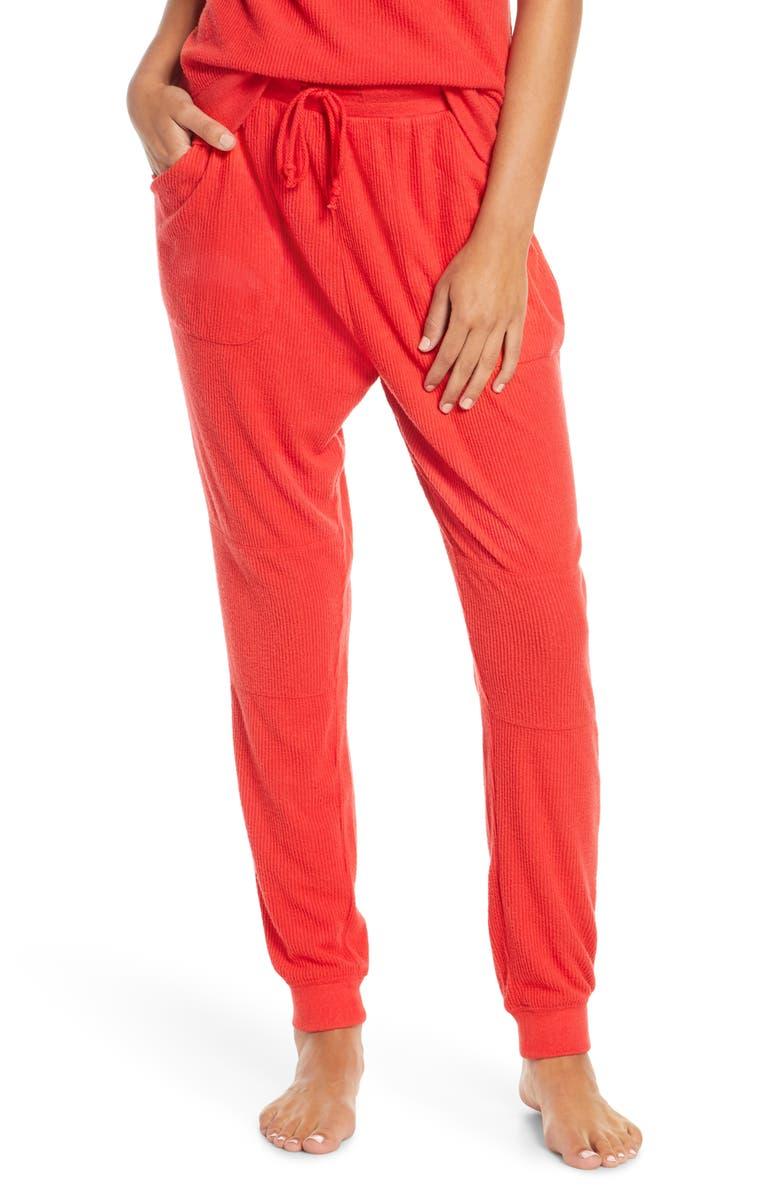 BP. x Claudia Sulewski Lounge Jogger Pants, Main, color, RED POLISH