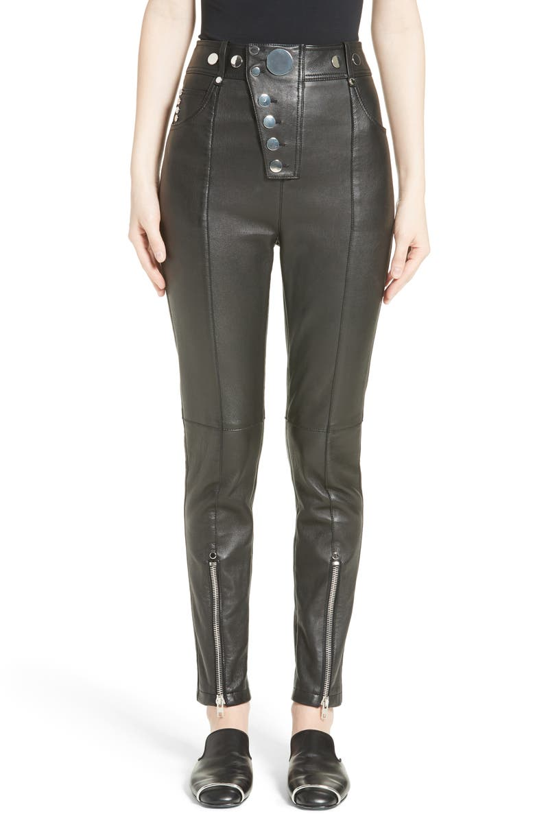best place for enjoy complimentary shipping discover latest trends High Waist Leather Pants