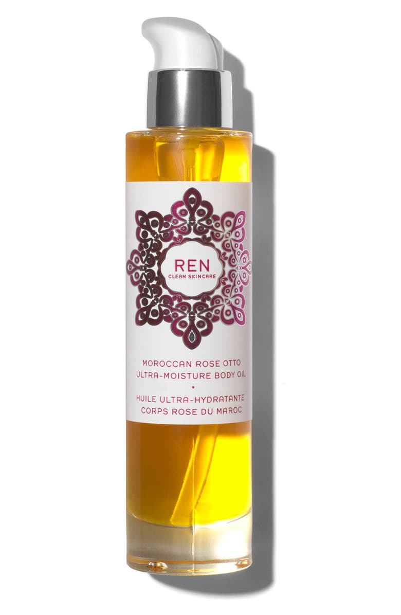 REN SPACE.NK.apothecary REN Moroccan Rose Ultra-Moisture Body Oil, Main, color, NO COLOR