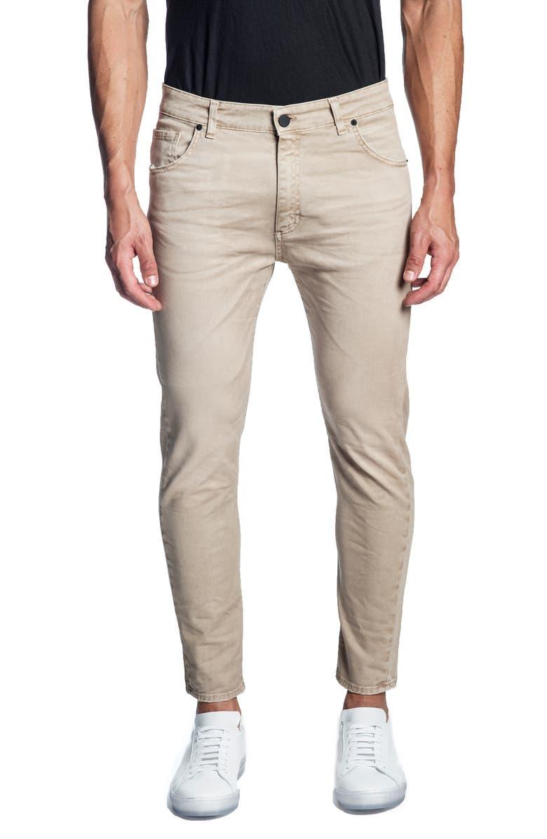 JARED LANG Skinny Jeans, Main, color, LIGHT KHAKI