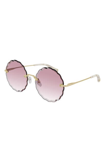 Chloé 60MM GRADIENT ROUND SUNGLASSES