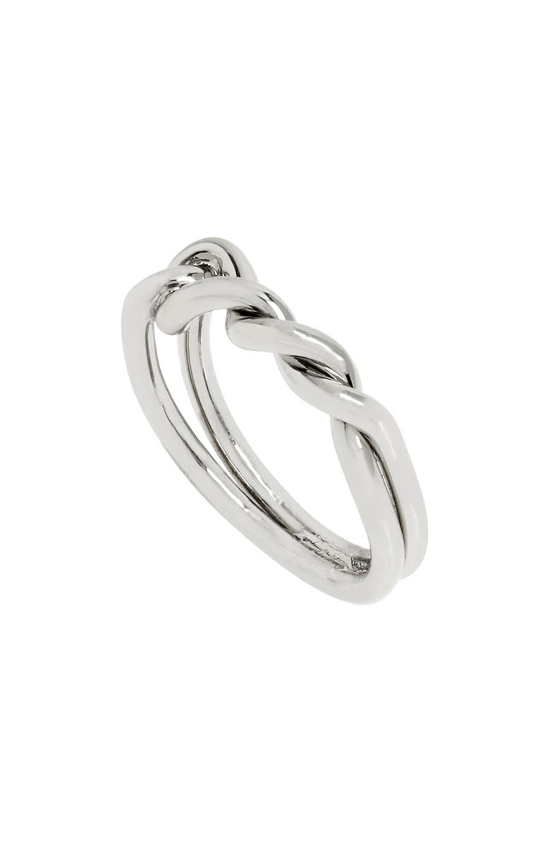ALLSAINTS Knot Twist Ring, Main, color, SILVER