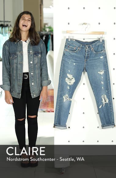 501<sup>™</sup> Taper Ripped Boyfriend Jeans, sales video thumbnail
