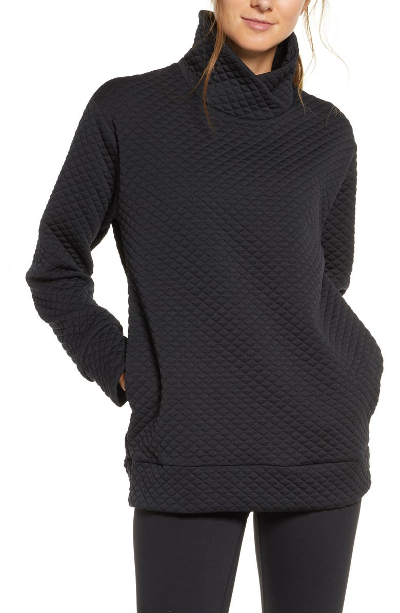 NEW BALANCE Heat Loft Pullover, Main, color, BLACK