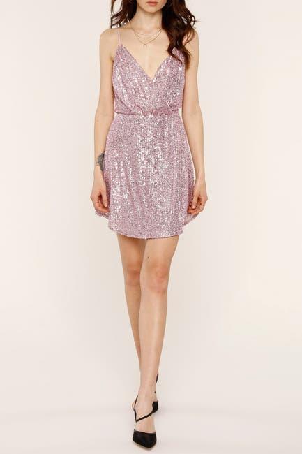 Image of Heartloom Rue Sequin Wrap Mini Dress