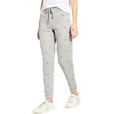 Splendid X & O Embroidered Jogger Sweatpants, Grey