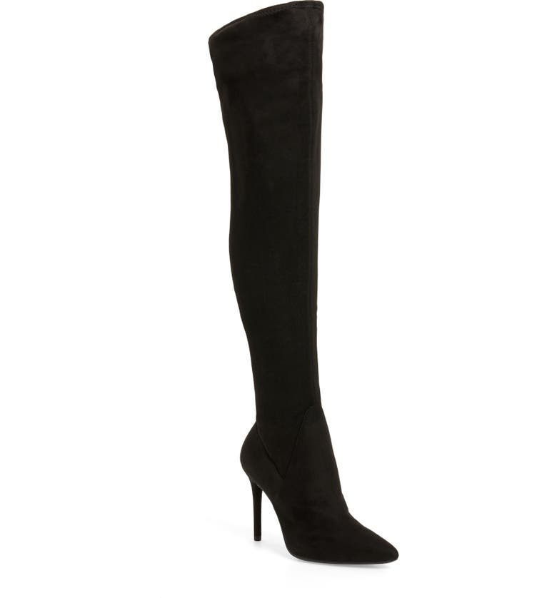 JESSICA SIMPSON Loring Stretch Over the Knee Boot, Main, color, 001