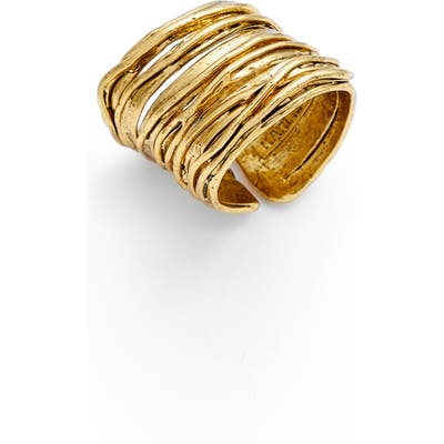 Karine Sultan Adjustable Band Ring