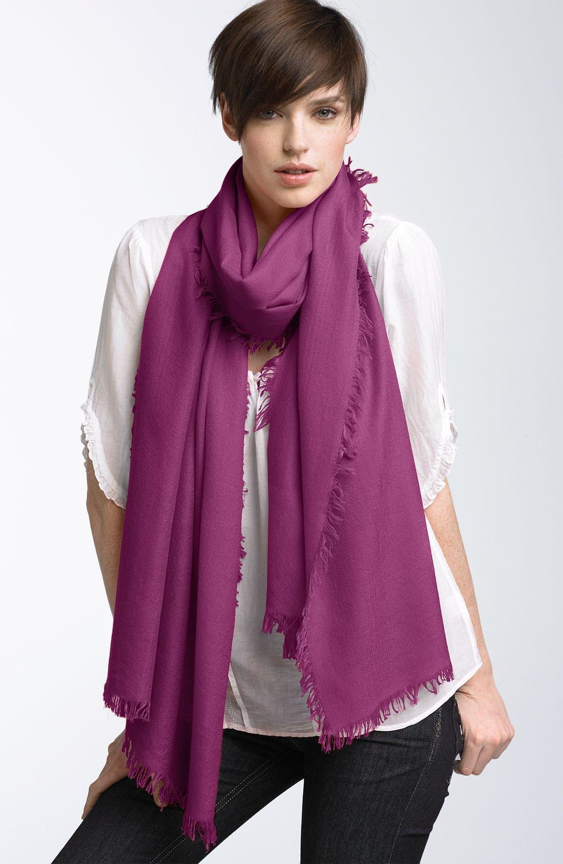 ,                             'Eyelash' Colorblock Cashmere Wrap,                             Main thumbnail 95, color,                             671