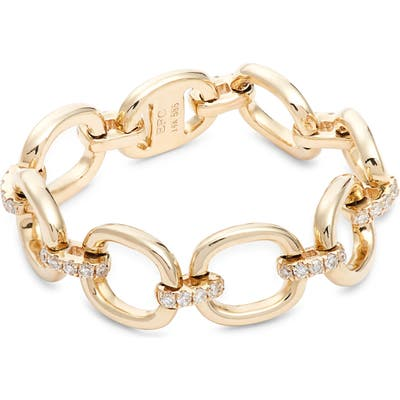 Ef Collection Diamond Chain Link Ring