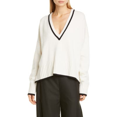 Co Wool & Cashmere Sweater, Ivory