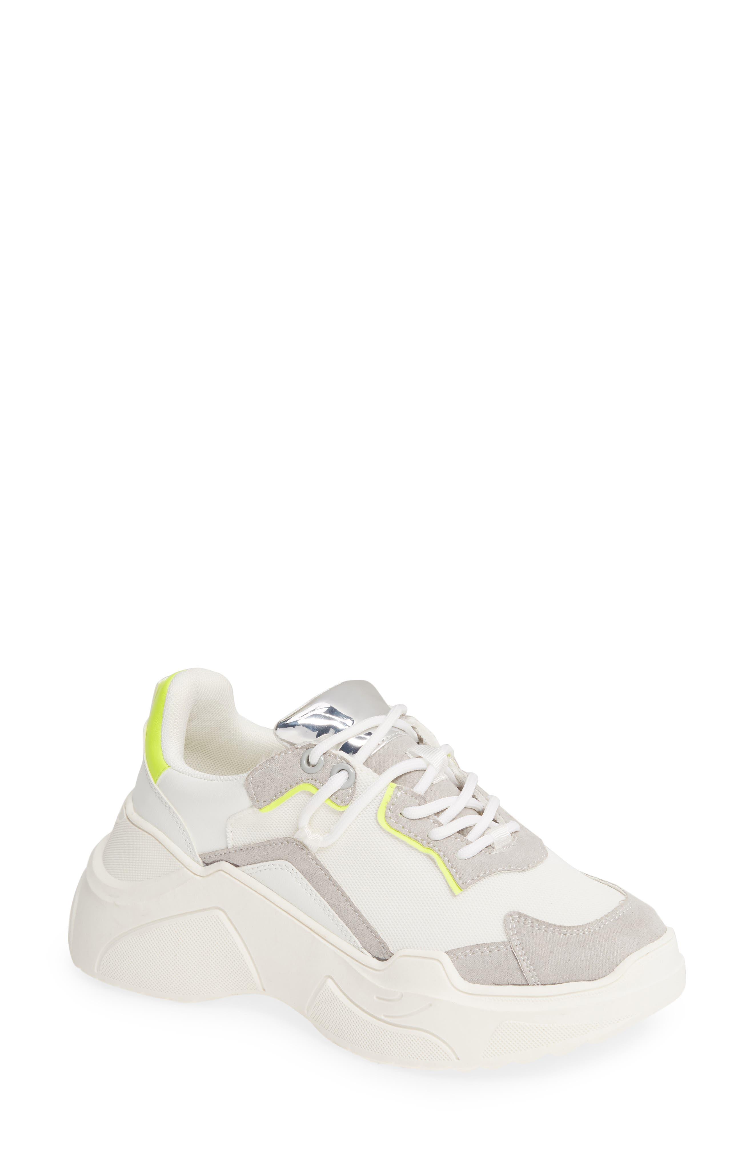 Topshop Cherry Chunky Sneaker - White