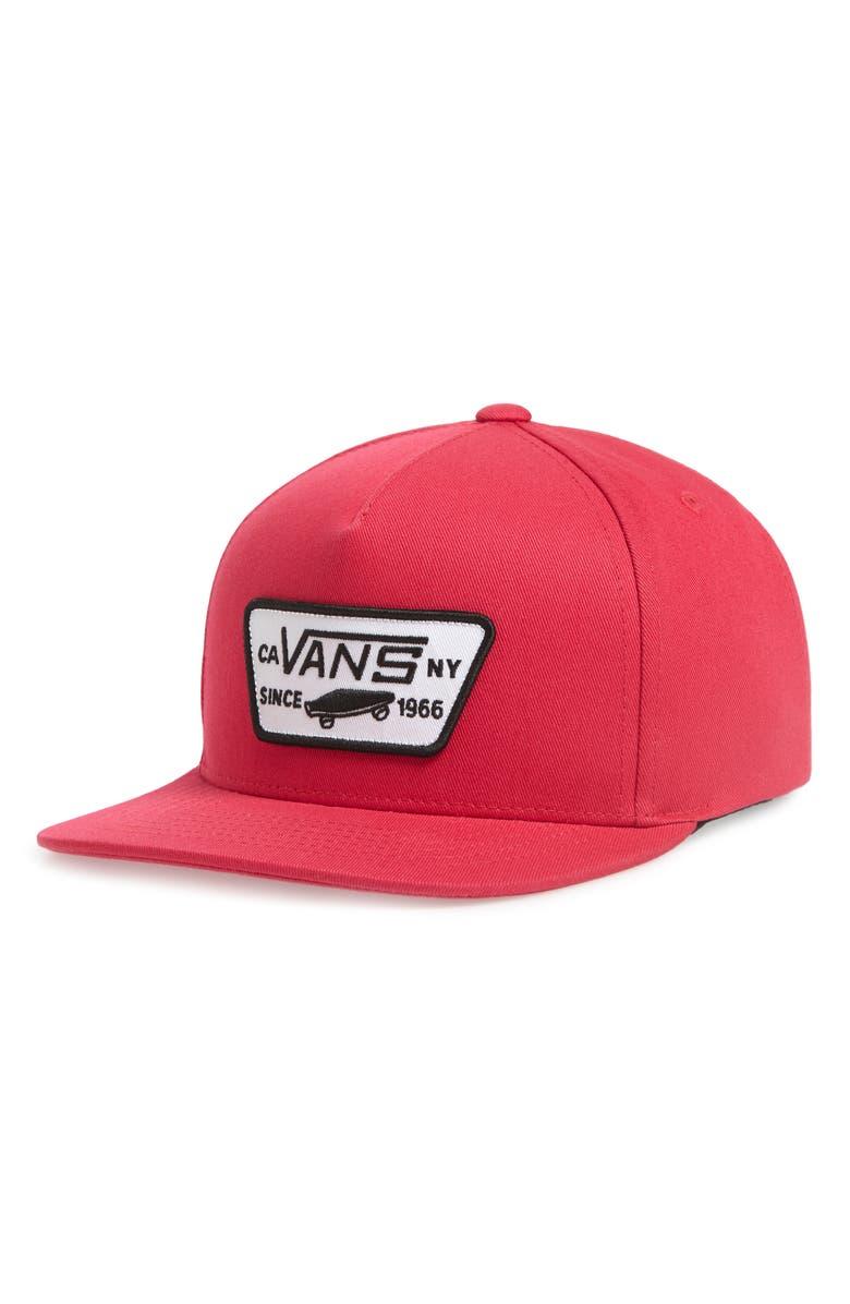 VANS Full Patch Snapback Baseball Cap, Main, color, 650