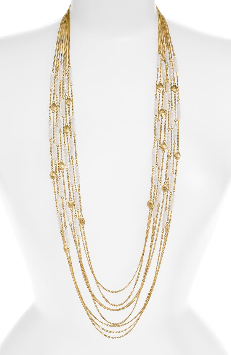 NORDSTROM Multi Row Bead Necklace, Main, color, 100
