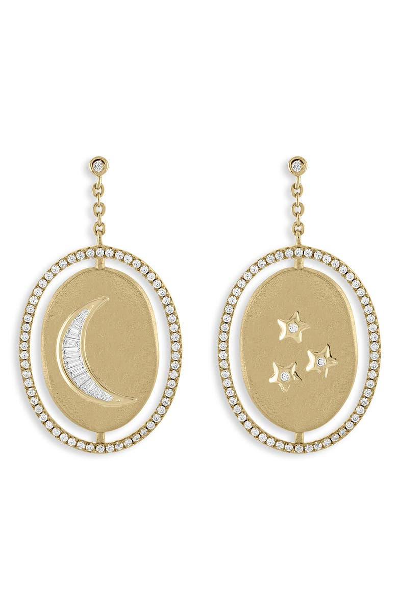 LULU DK Moon & Stars Medallion Drop Earrings, Main, color, 710